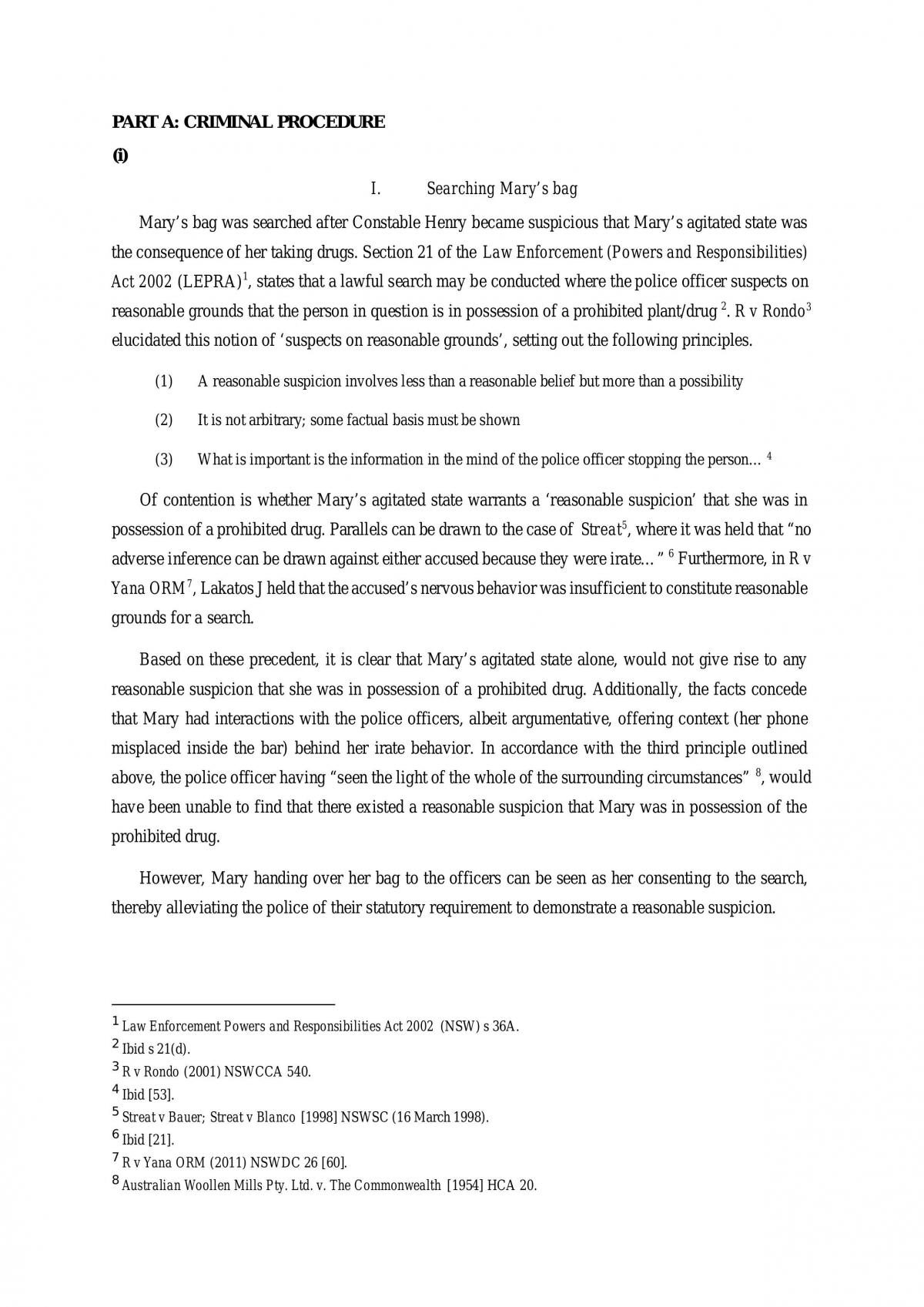 HD Criminal Law Assignment - Page 1