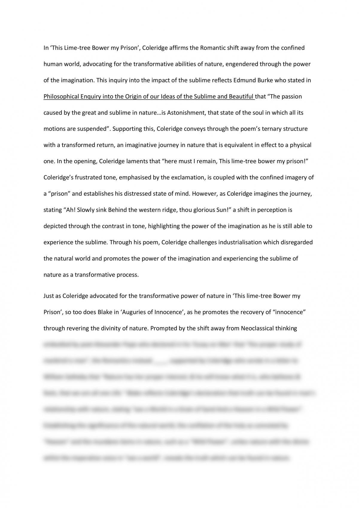 Romanticism Essay - Page 1