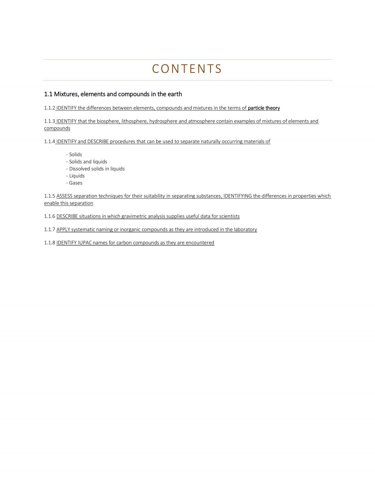 Module 1 - The Chemical Earth Syllabus Notes - Page 1