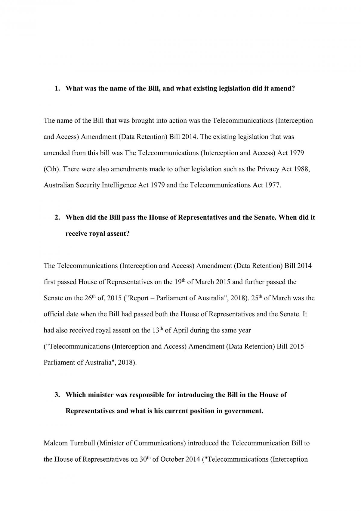 Law, Government and Justice Report - Page 1