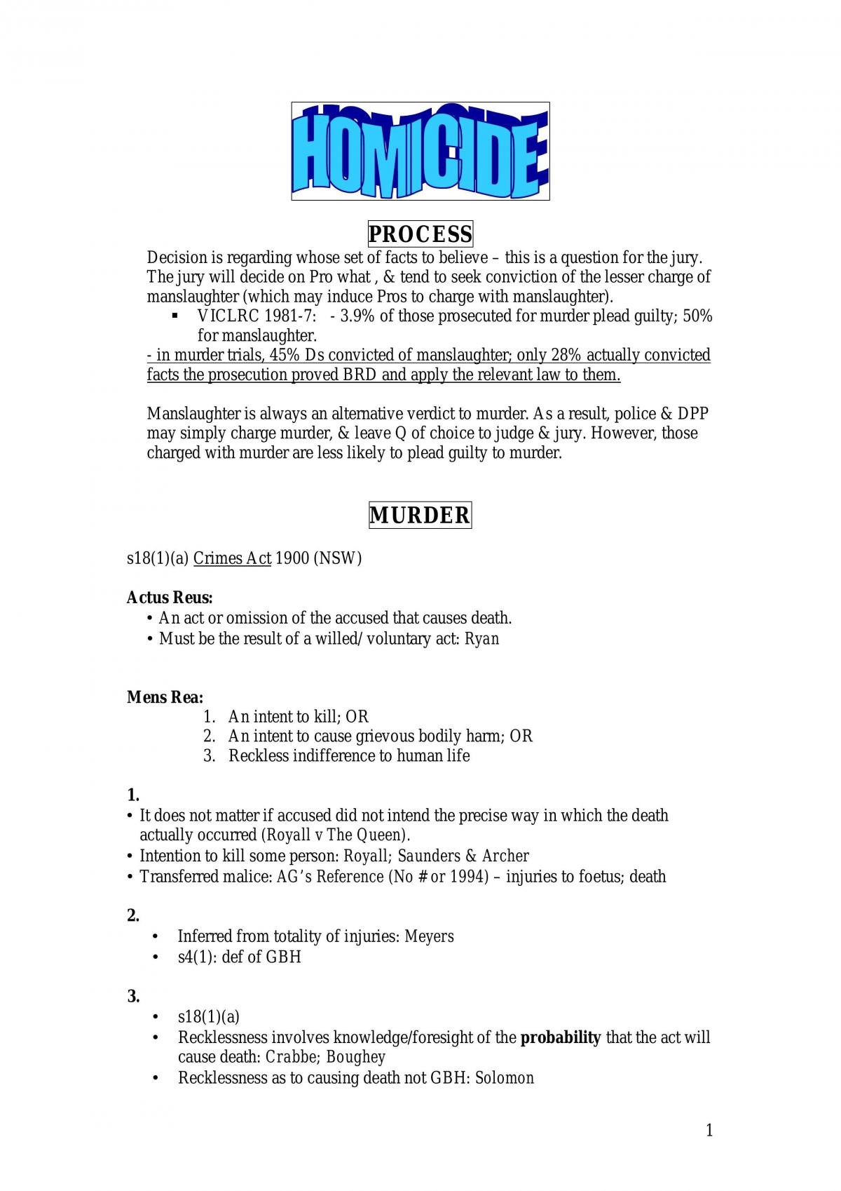 Crim Law 1 - Some Good Notes - Page 1
