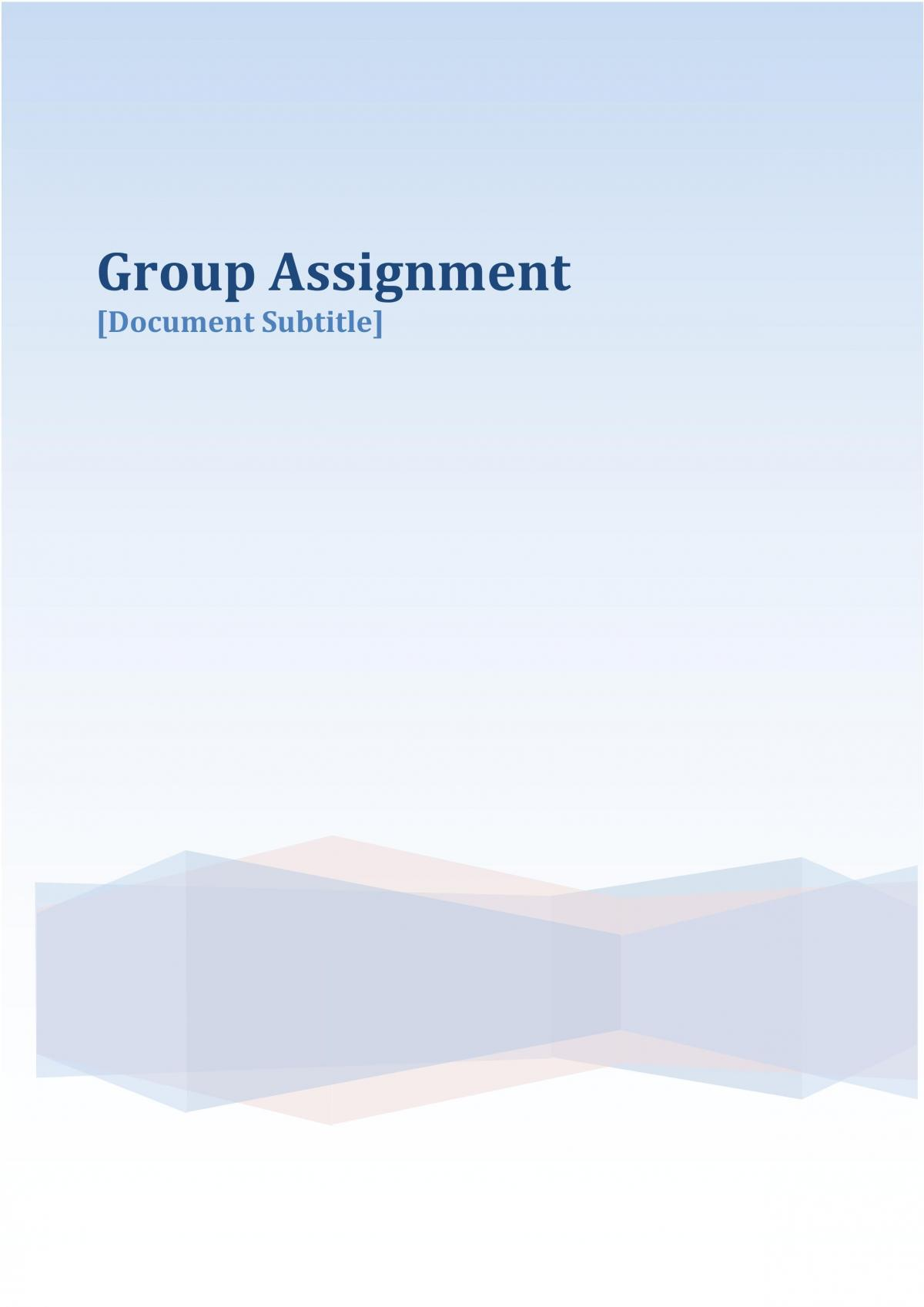 BCF2000 Group Assignment (In Pair) - Page 1