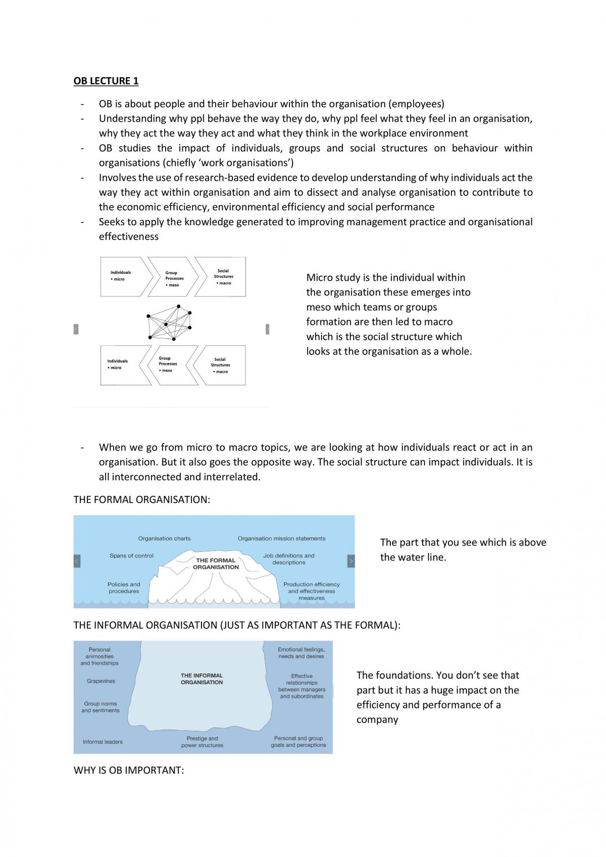 Complete MGMT 20001 Notes - Page 1