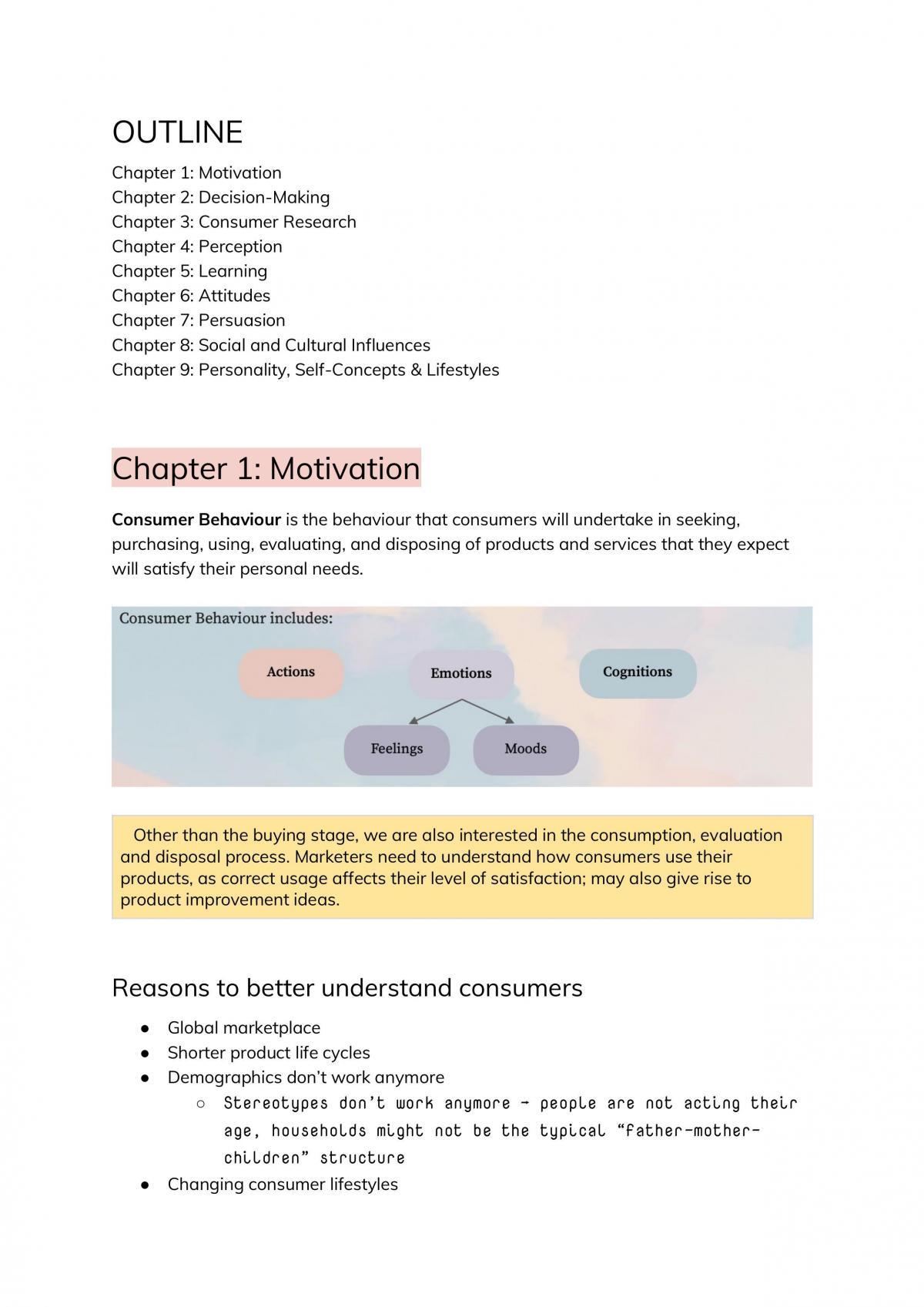 MKT3702 Subject Notes - Page 1