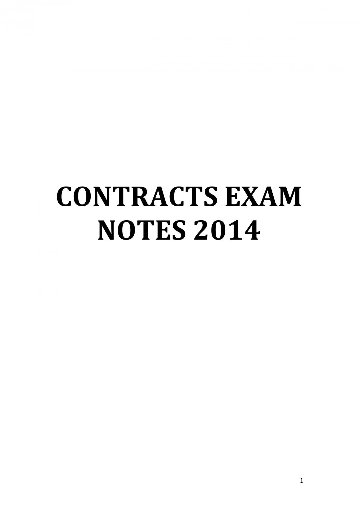 Contracts Notes MQ - Page 1