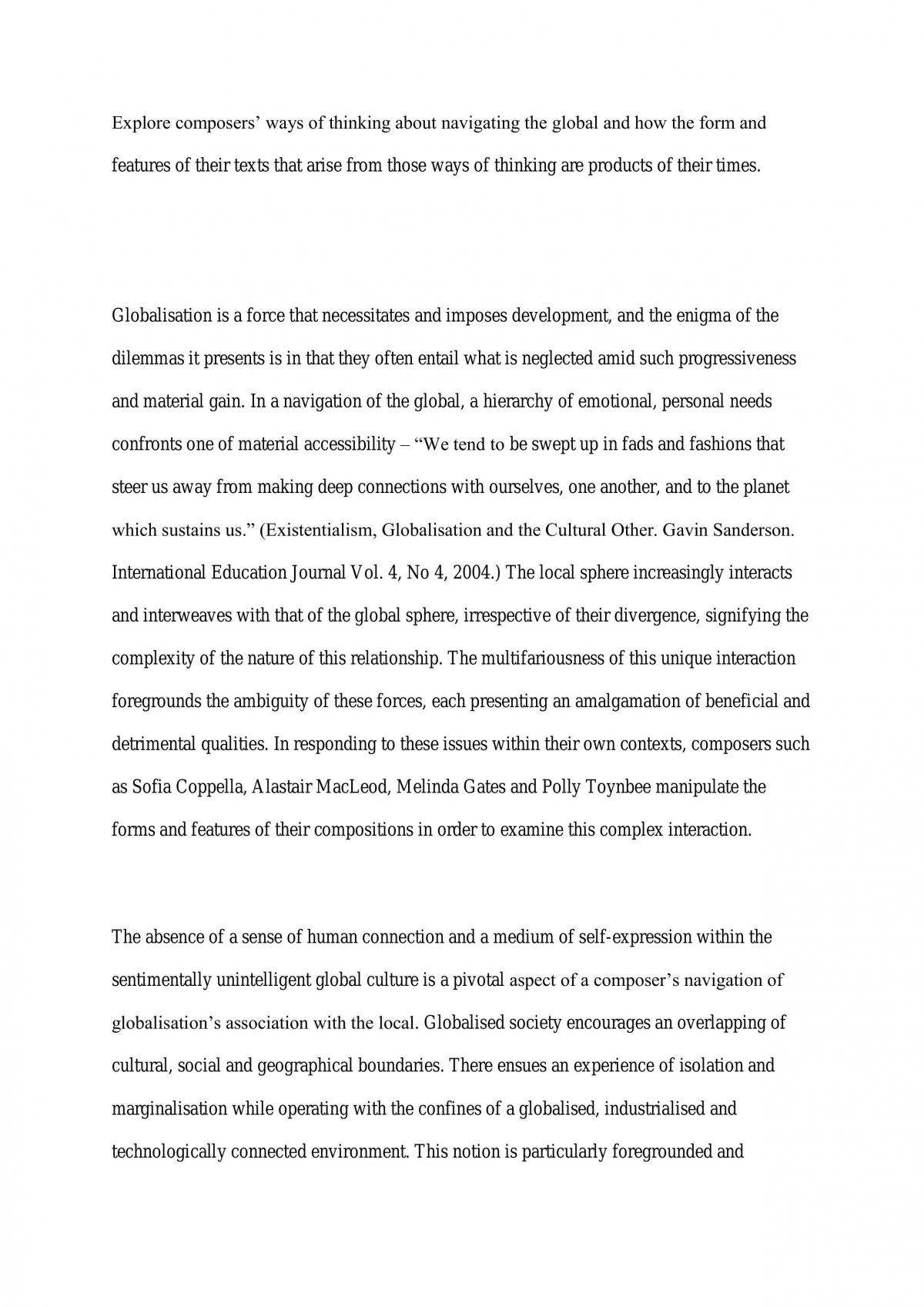 Navigating the Global Essay - Page 1