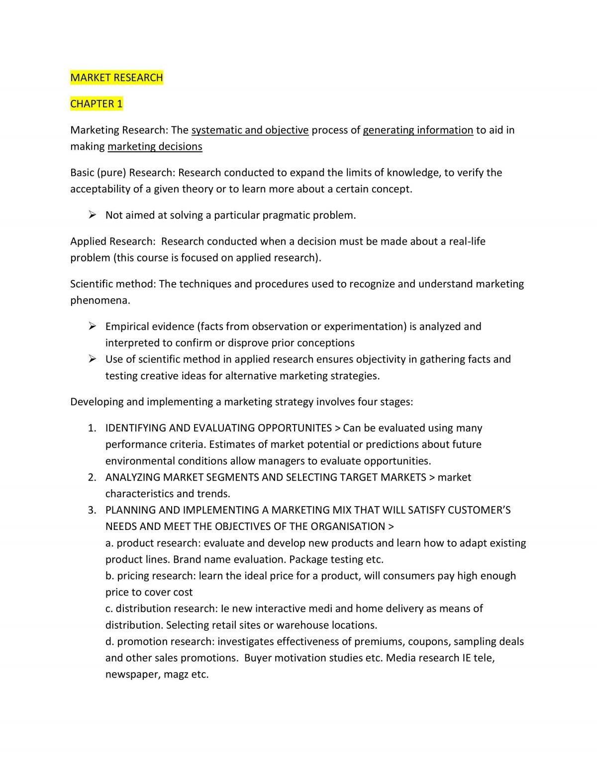 Market Research Study Notes - Page 1
