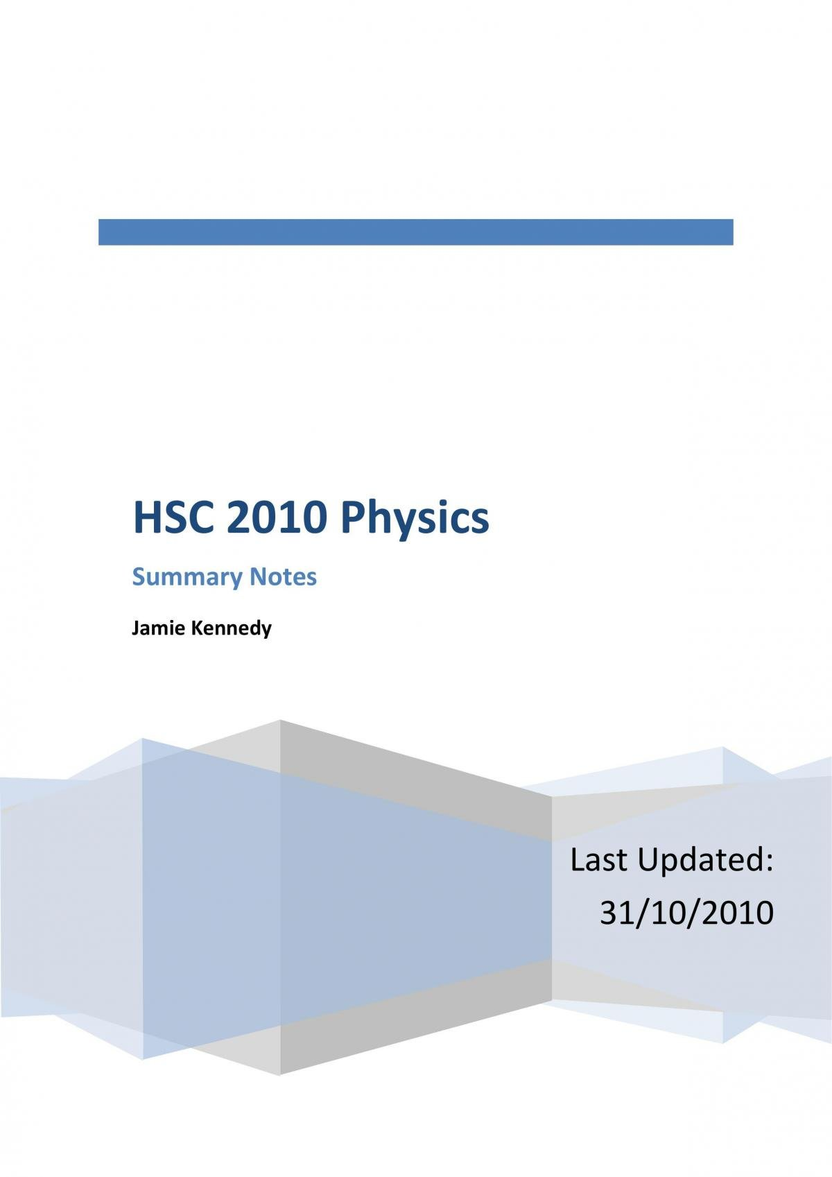 hsc physics notes - Page 1