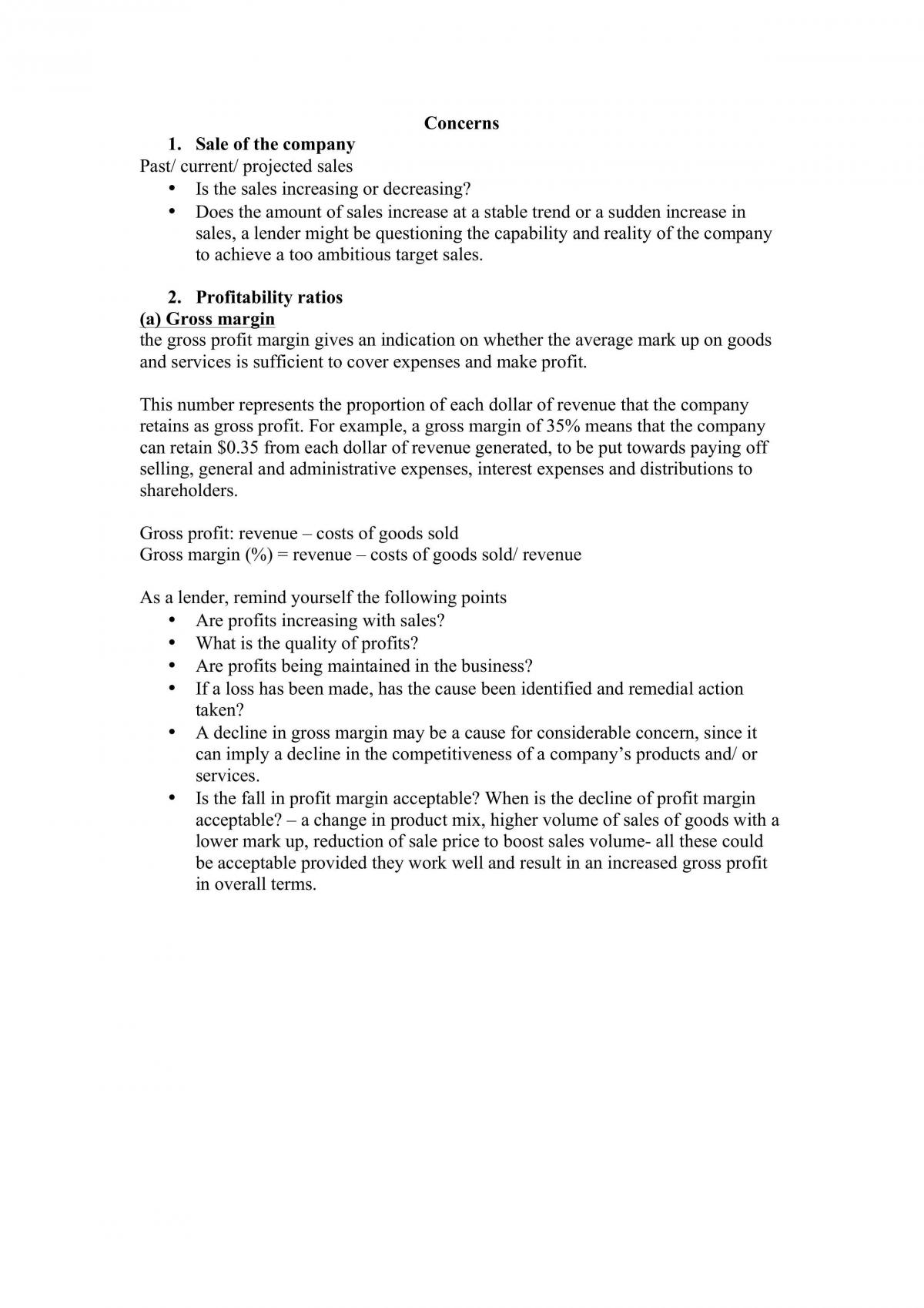 Case study concerns structure and explanations  - Page 1