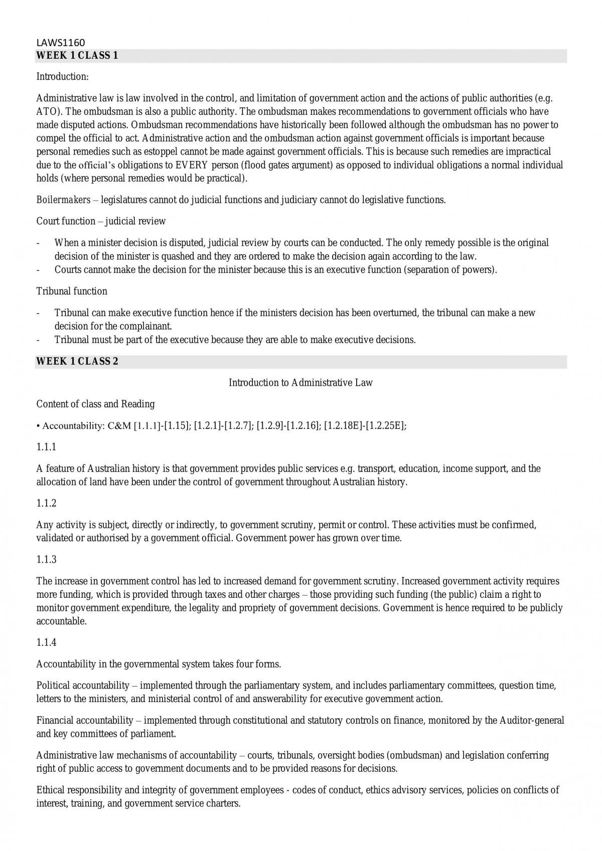 Full Admin Law Notes - Page 1