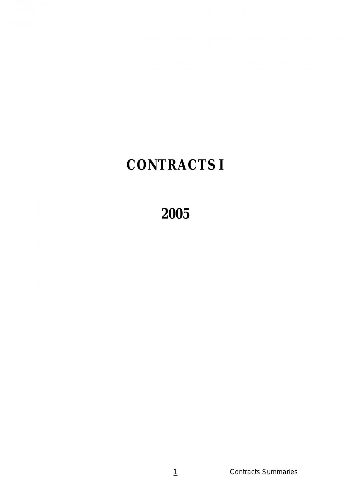 2005 Contracts - Page 1