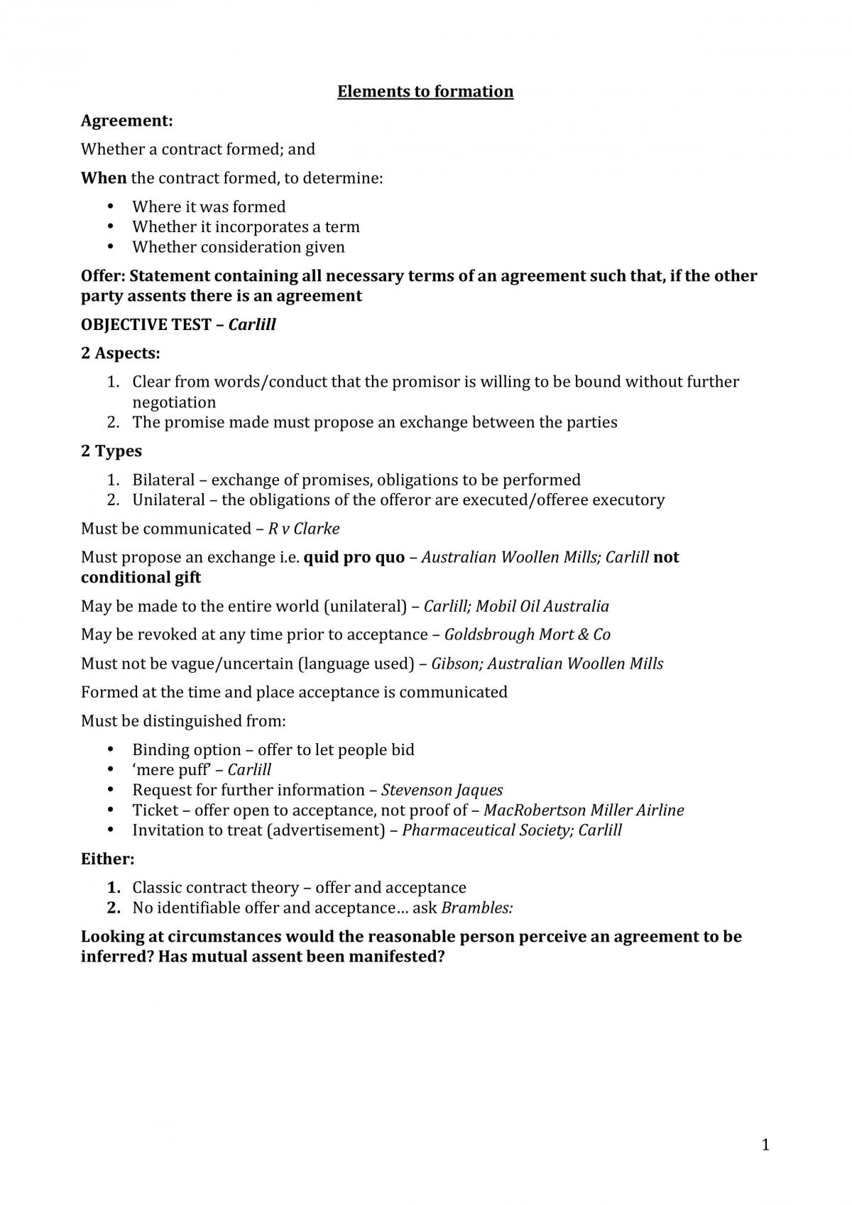 Exam Notes LLB120 - Page 1