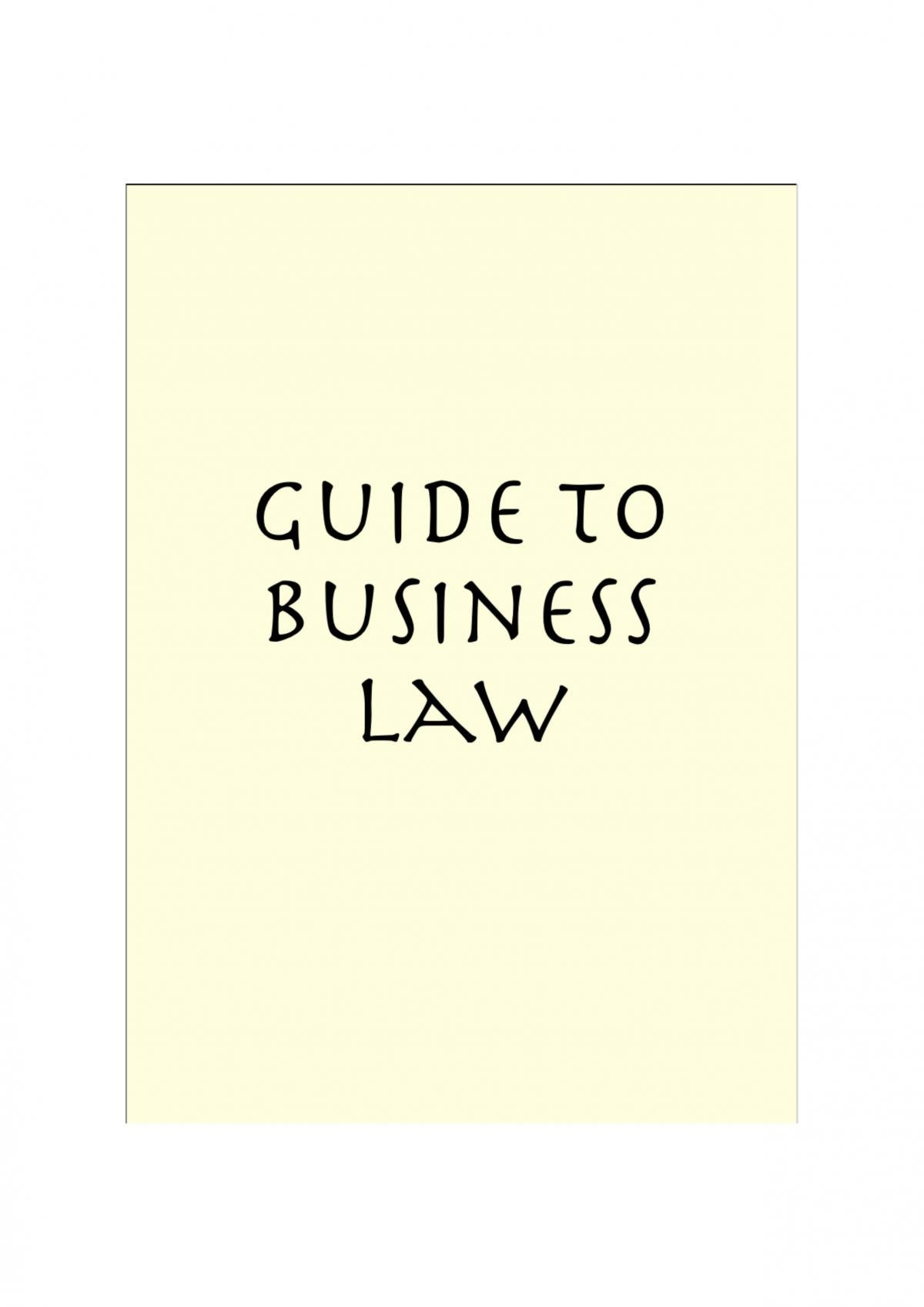 Foundations of Law - LEGL1001 - Page 1
