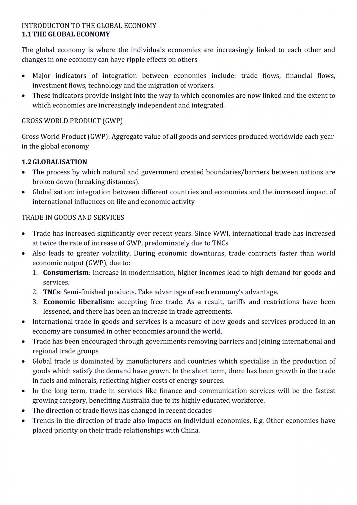 Introduction to the Global Economy  - Page 1