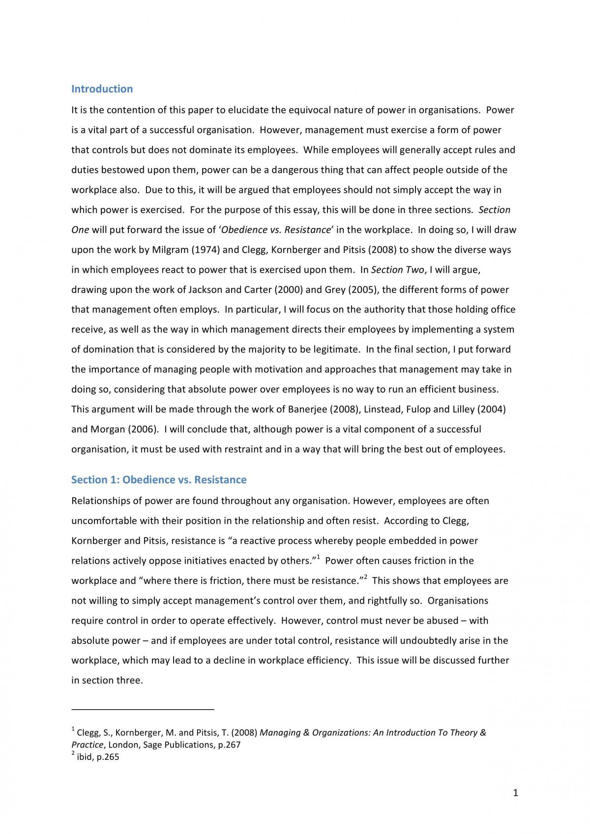 MPO Essay On Power - Page 1