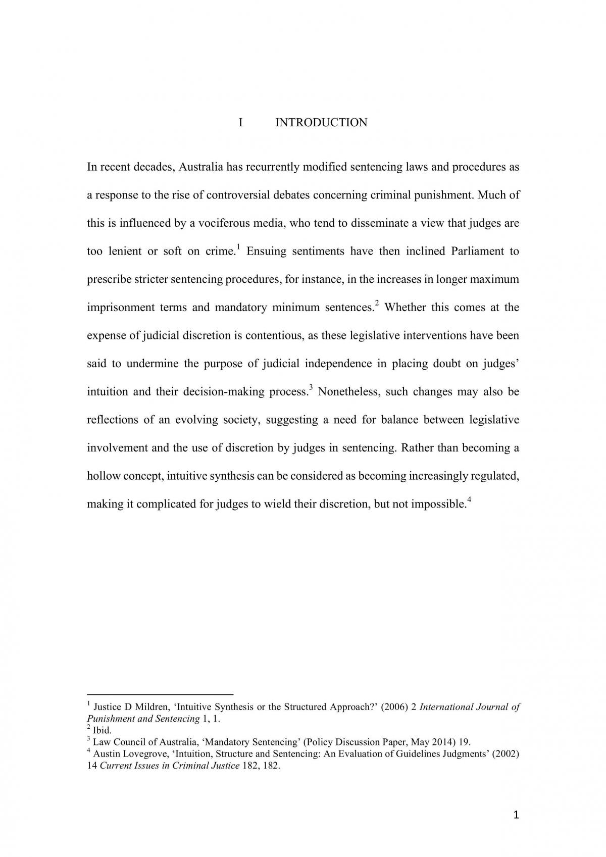 LAWS1022 Research Essay - Page 1