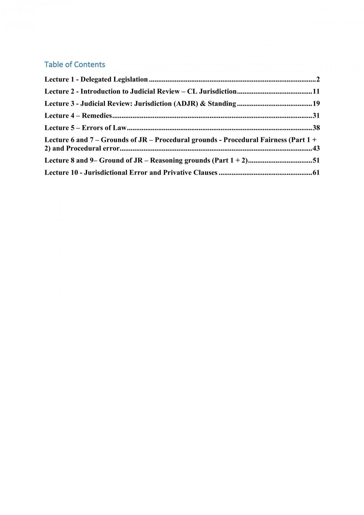 Administrative Law UTS Notes - Page 1