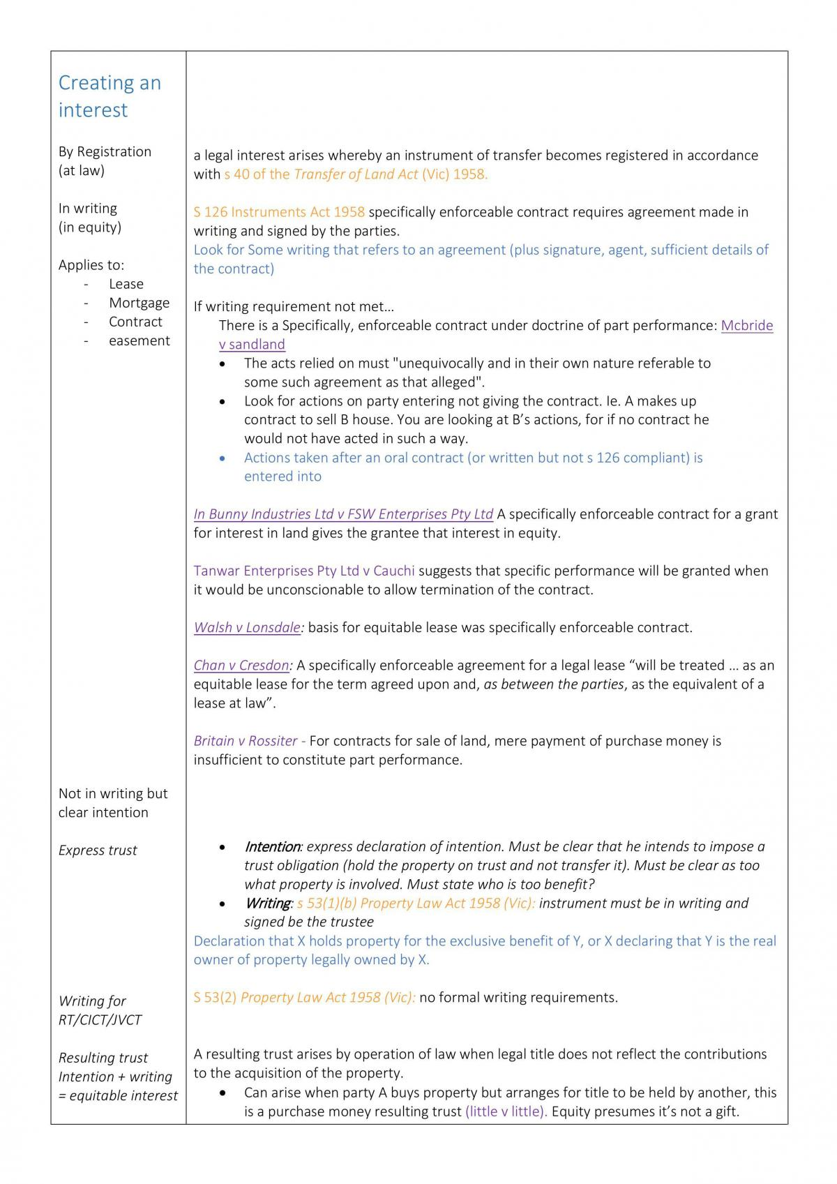 Exam Notes - Page 1