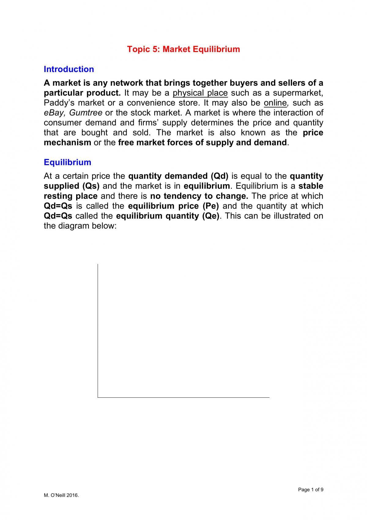 Topic 5 - Equilibrium - Page 1
