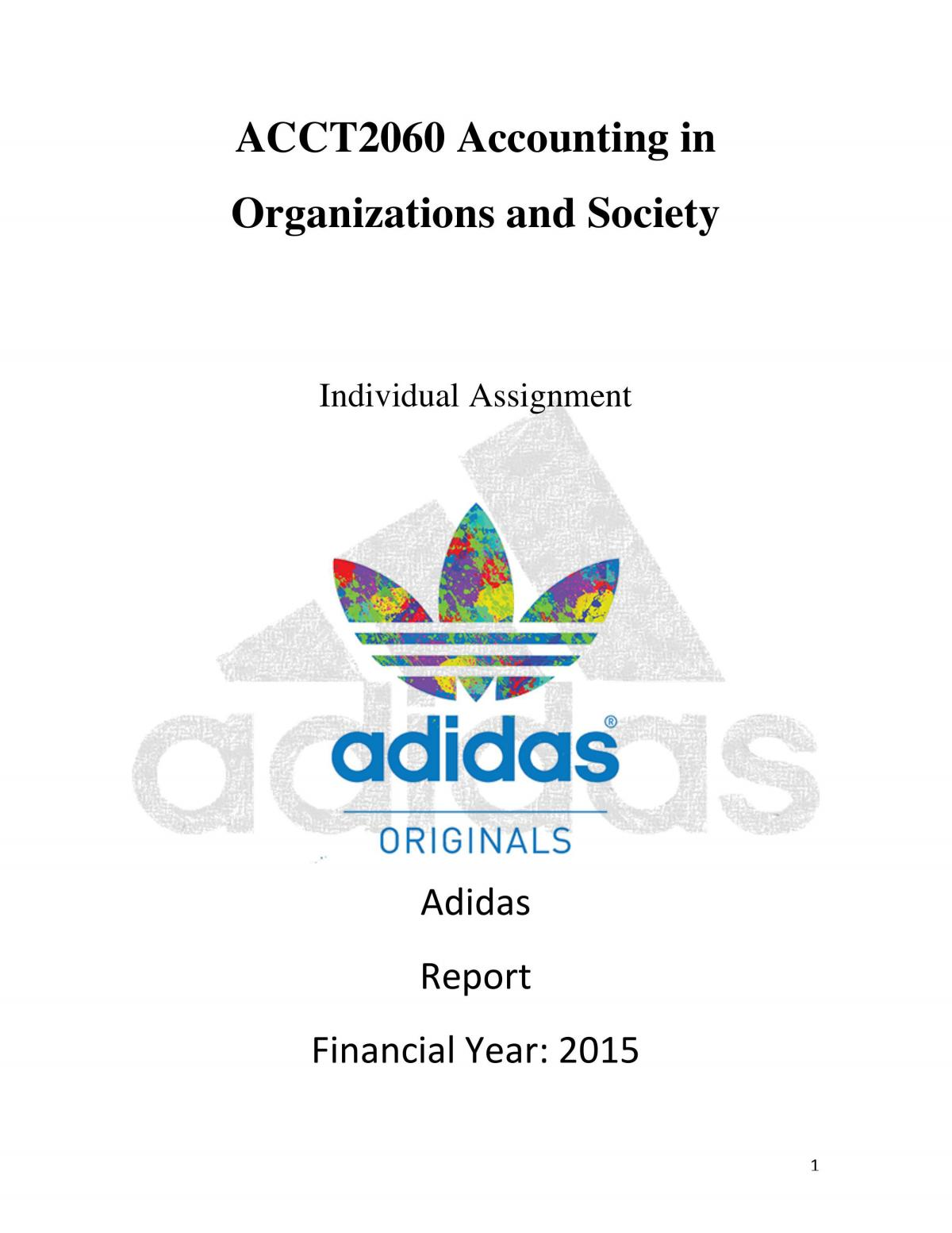 Sustainable/Corporate Social Responsibility Report - Page 1