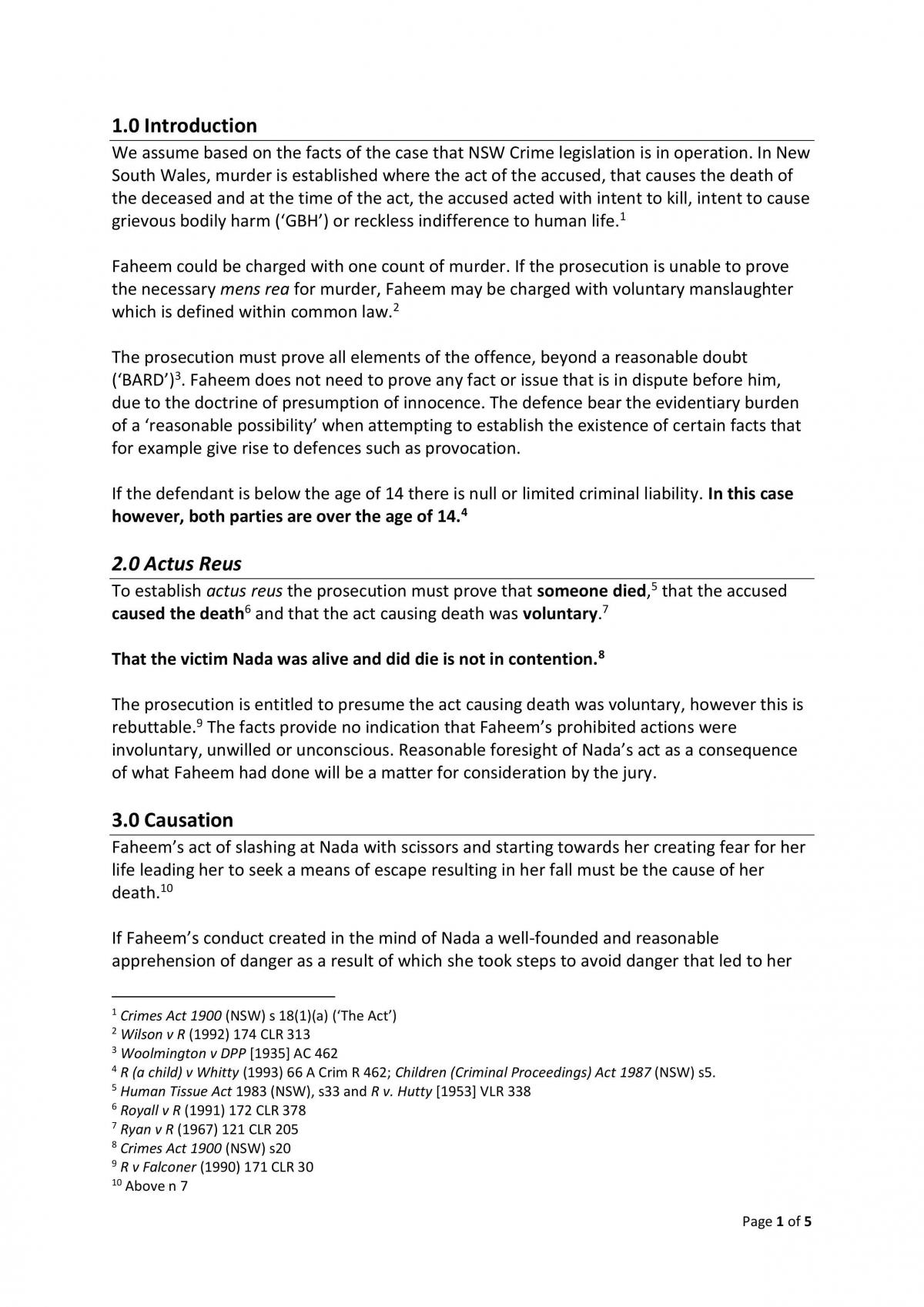 Criminal Law Complete Assignment Spring Semester 2013 - Page 1