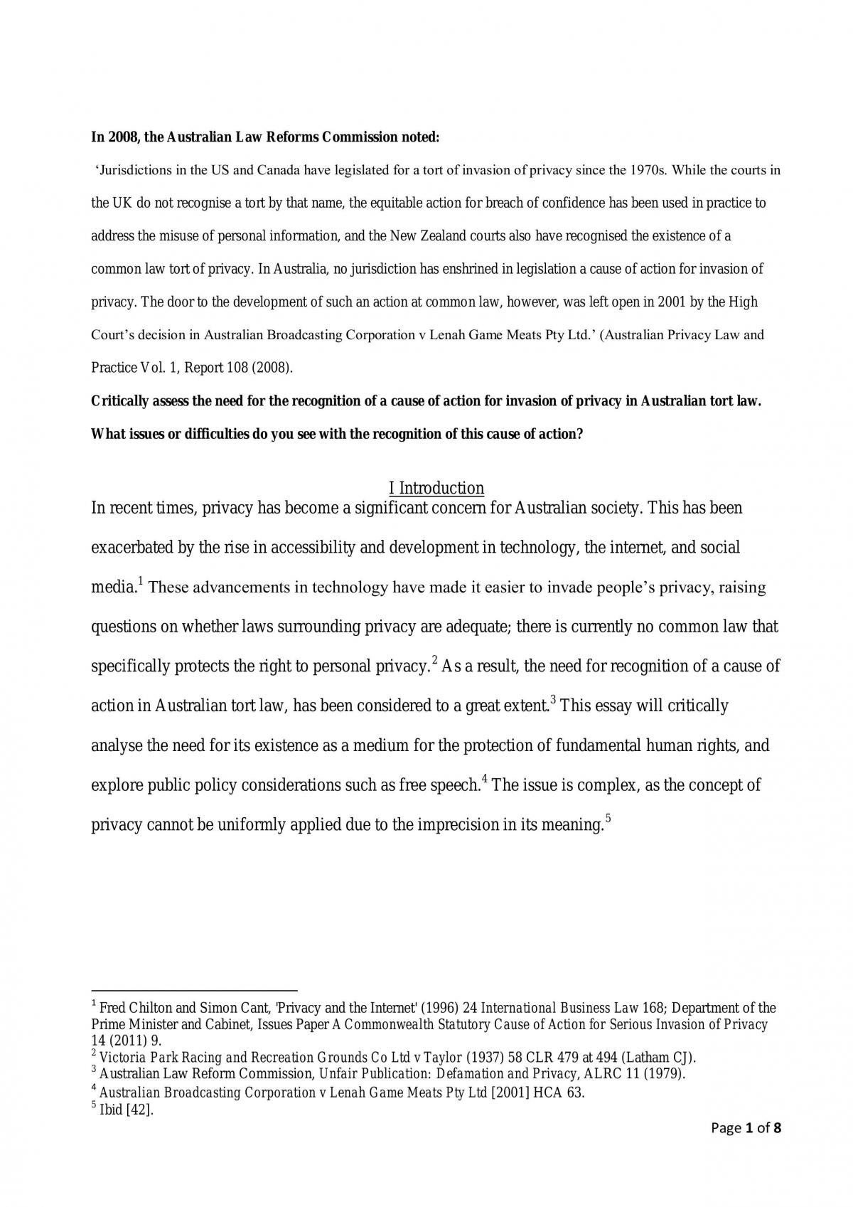 Research assignment - Page 1
