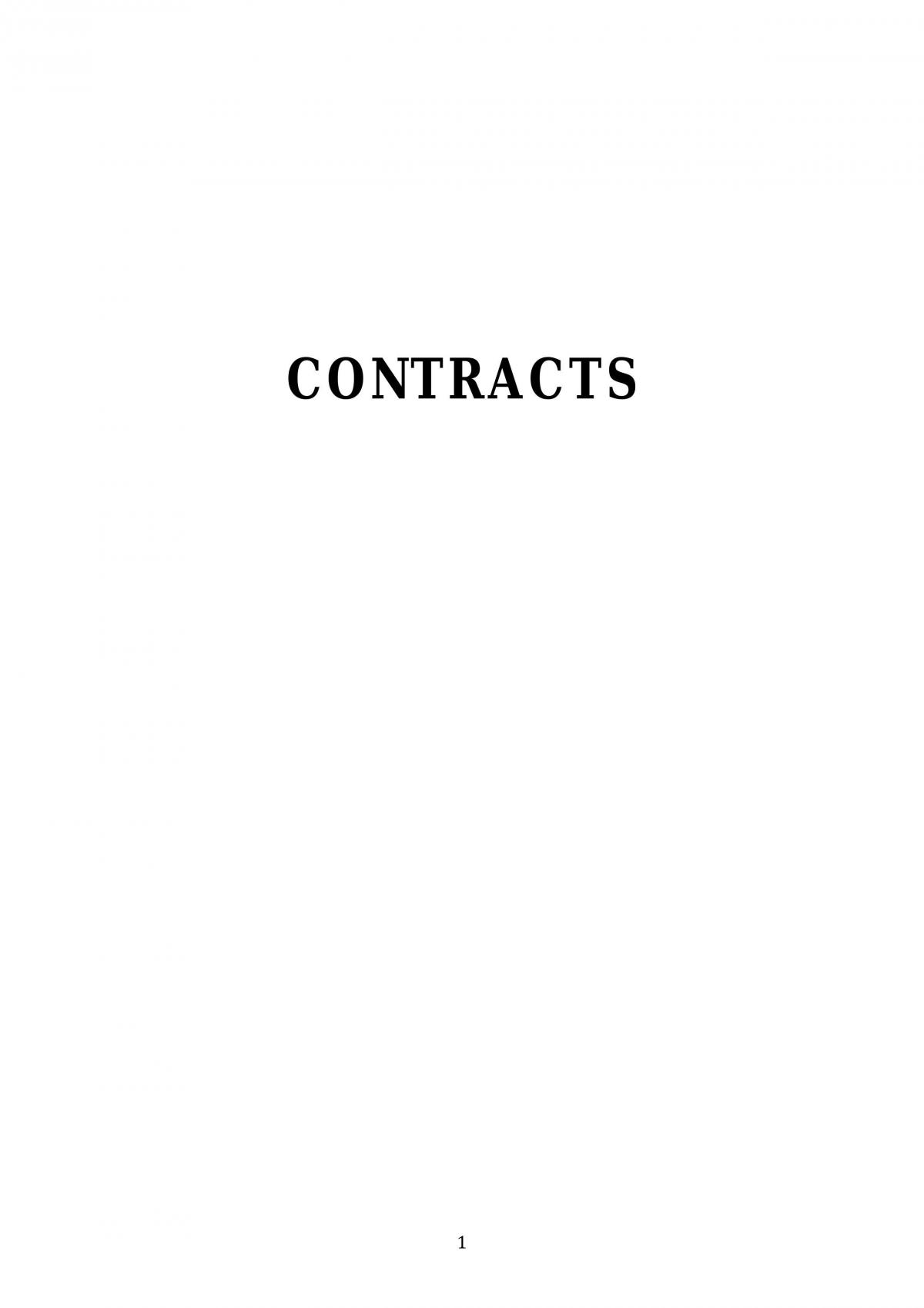 Contracts Notes - Page 1