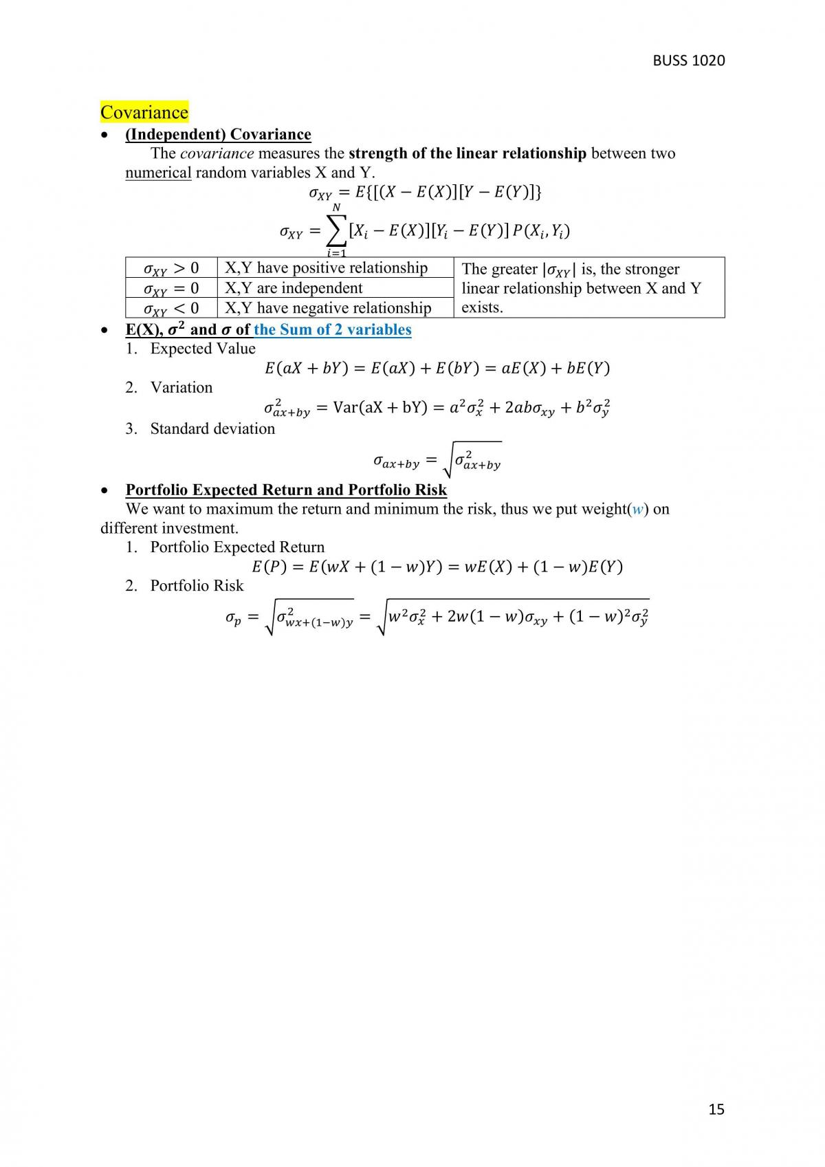 Complete Revision Notes - BUSS1020 - Page 15