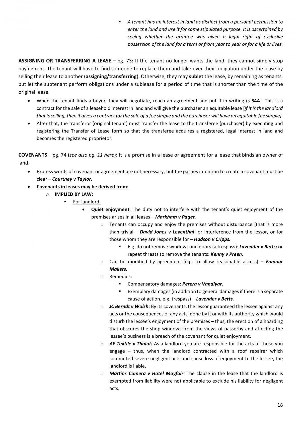 LAWS2383 - Land Law - Final Notes - Page 18