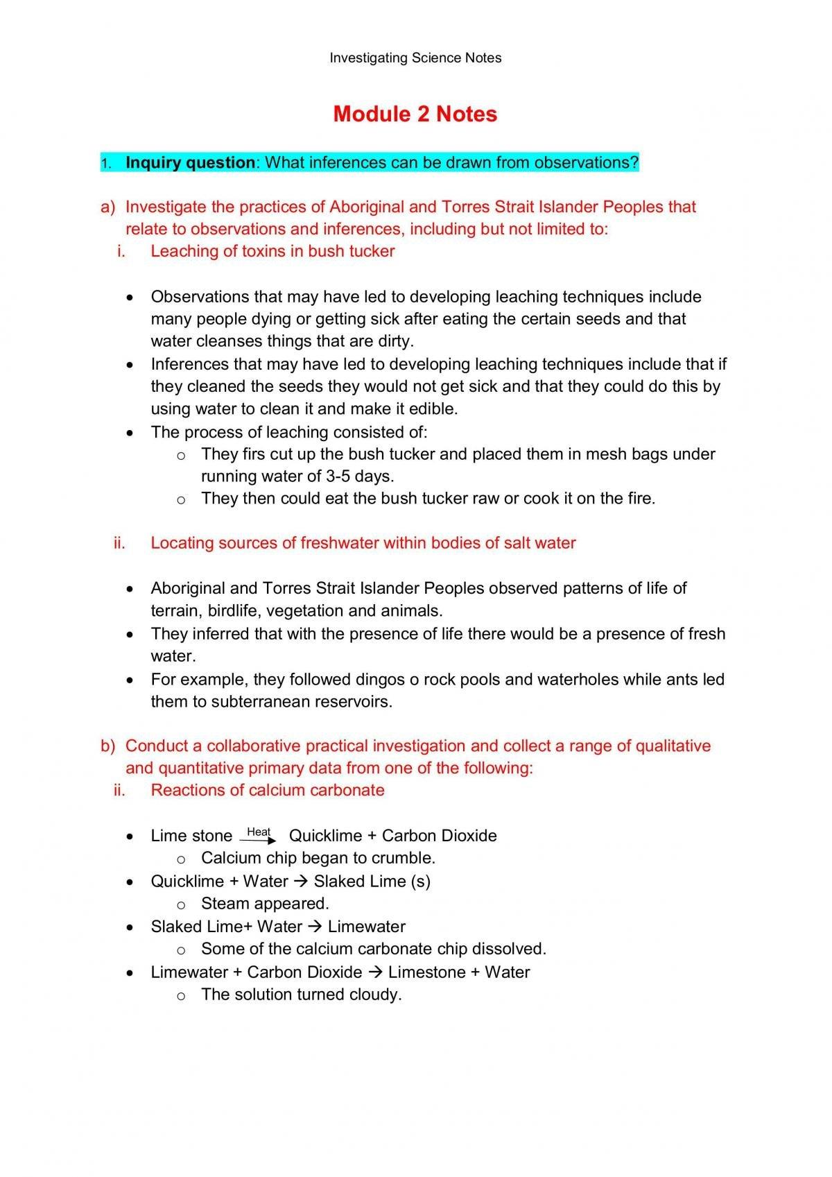 Investigating Science Prelim Notes - Page 5
