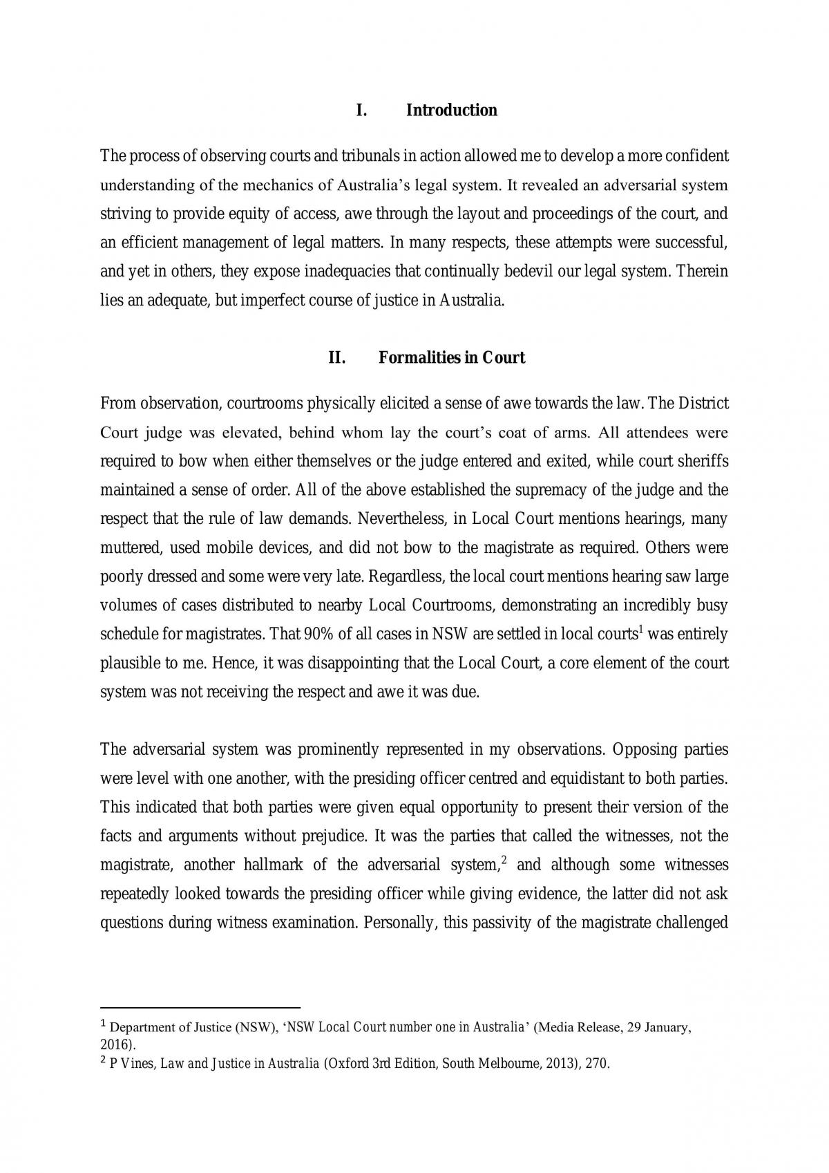 Court Observation Assignment - Page 2