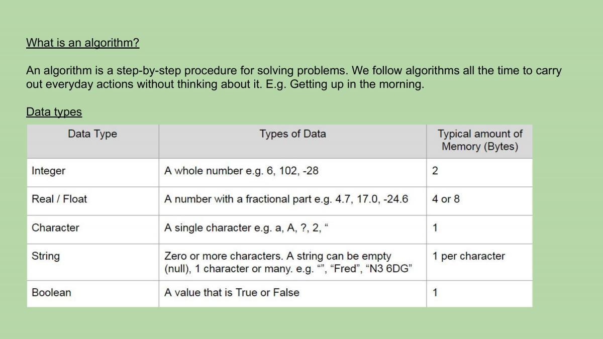 Entire Computer Science GCSE summarised - Page 2