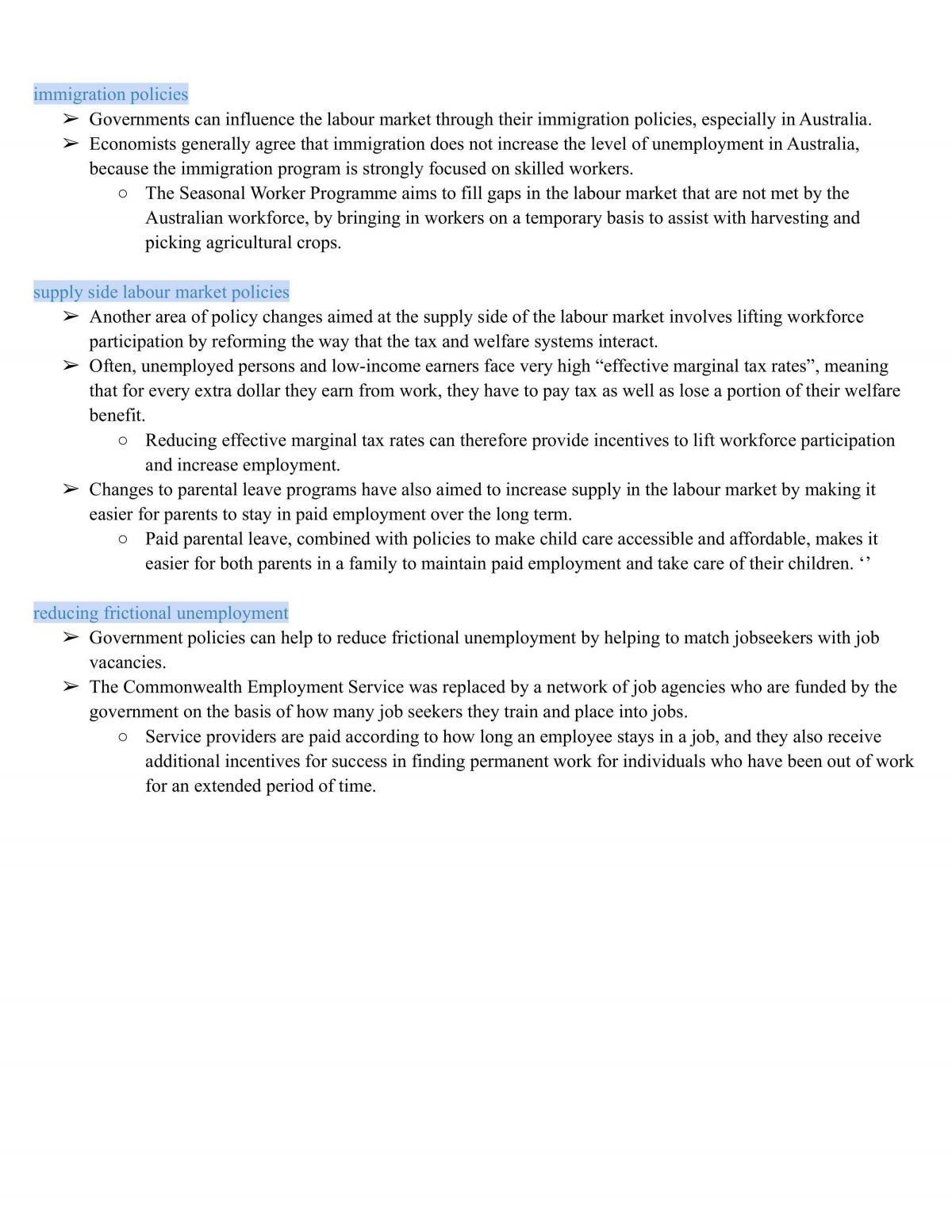 Economics - Topic 3: Economic Issues (notes) - Page 15