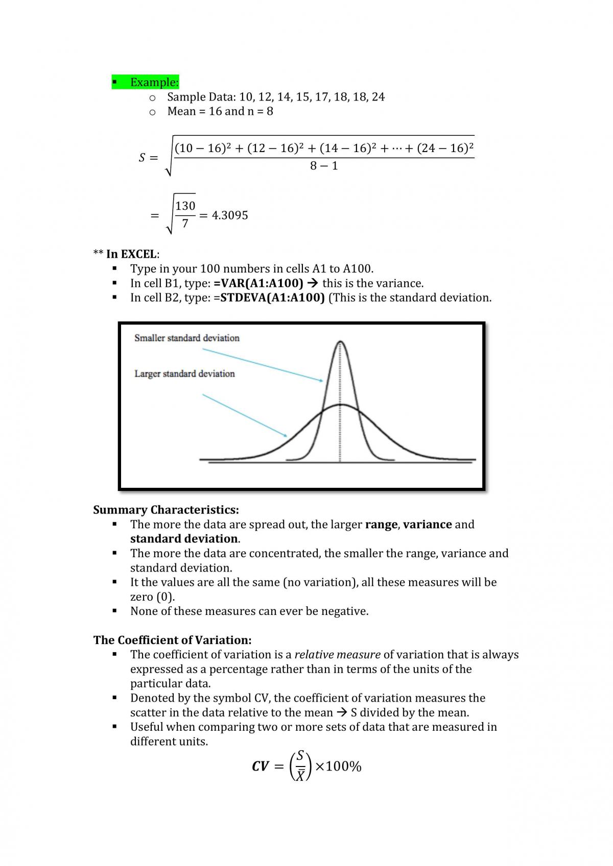 Quantitative Business Analysis Notes - Page 12