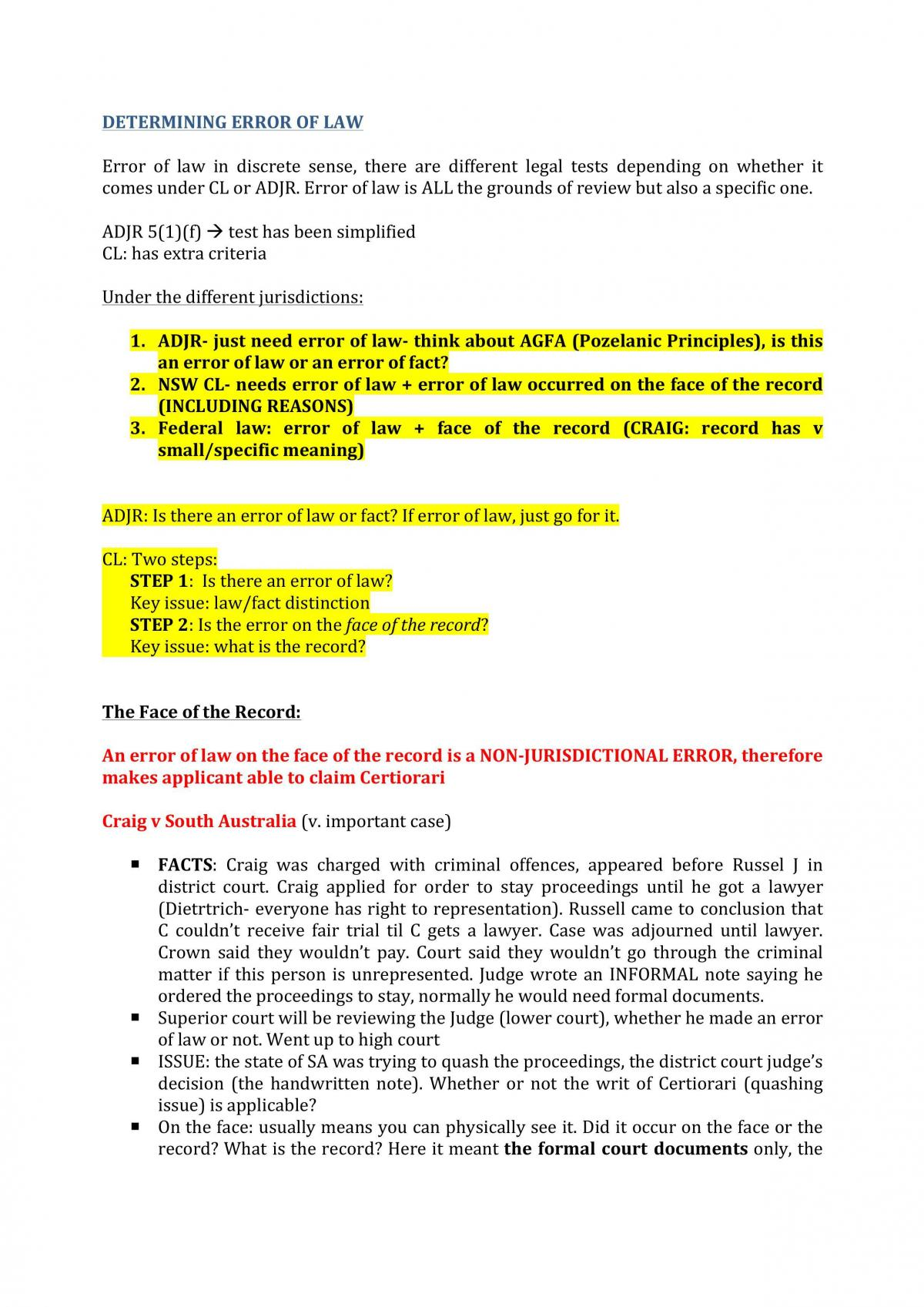 Administrative Law Notes - Page 54