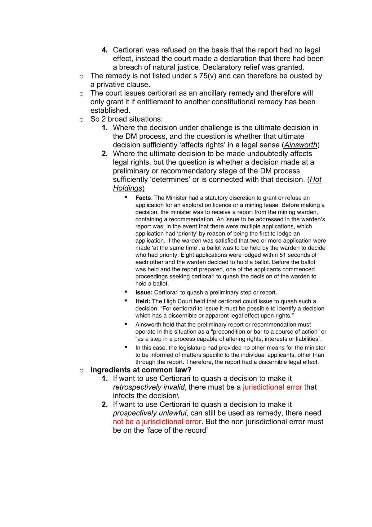 Administrative Law UTS Notes - Page 34