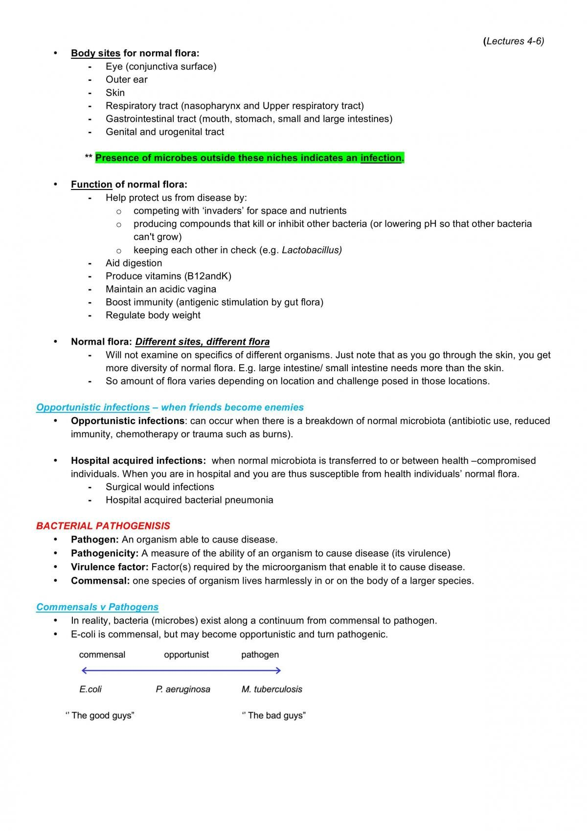 Lectures 1-6 for BMS2052 Notes - Page 14