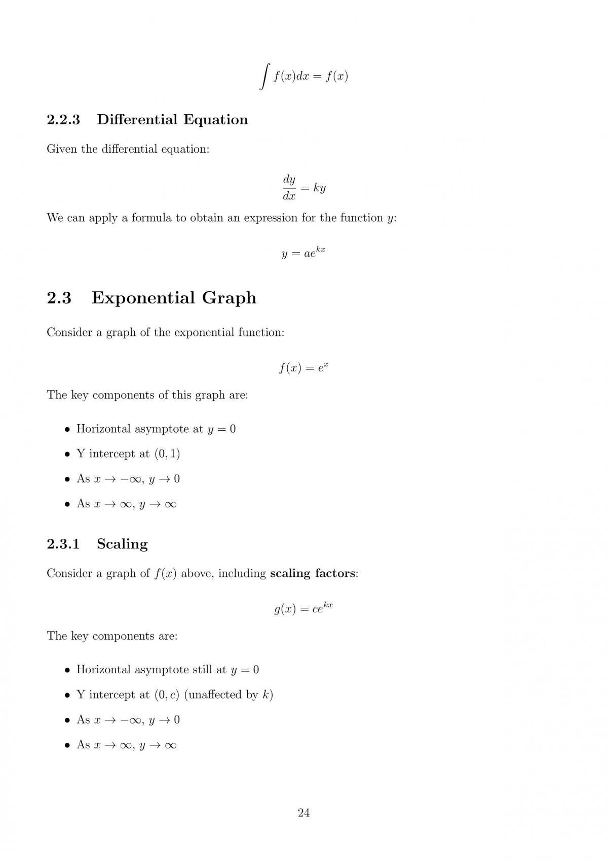 Mathematical Methods Comprehensive Notes - Page 24