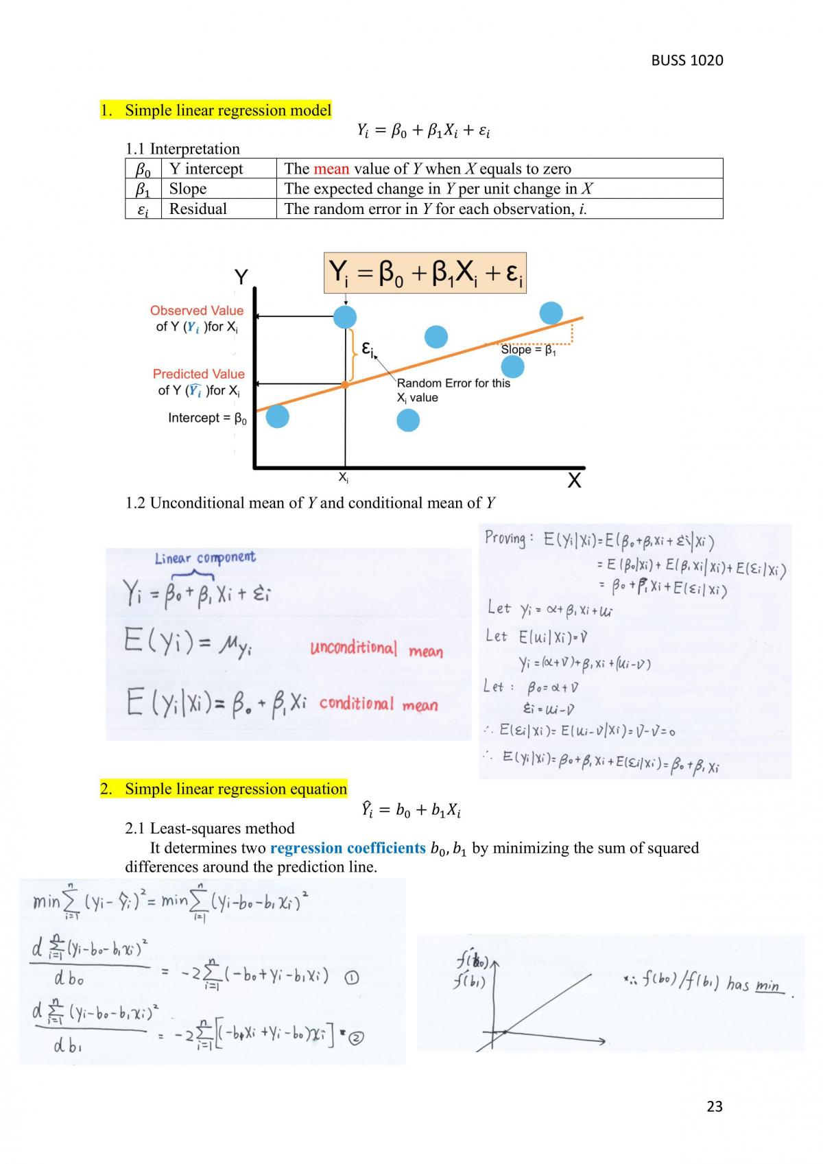 Complete Revision Notes - BUSS1020 - Page 23