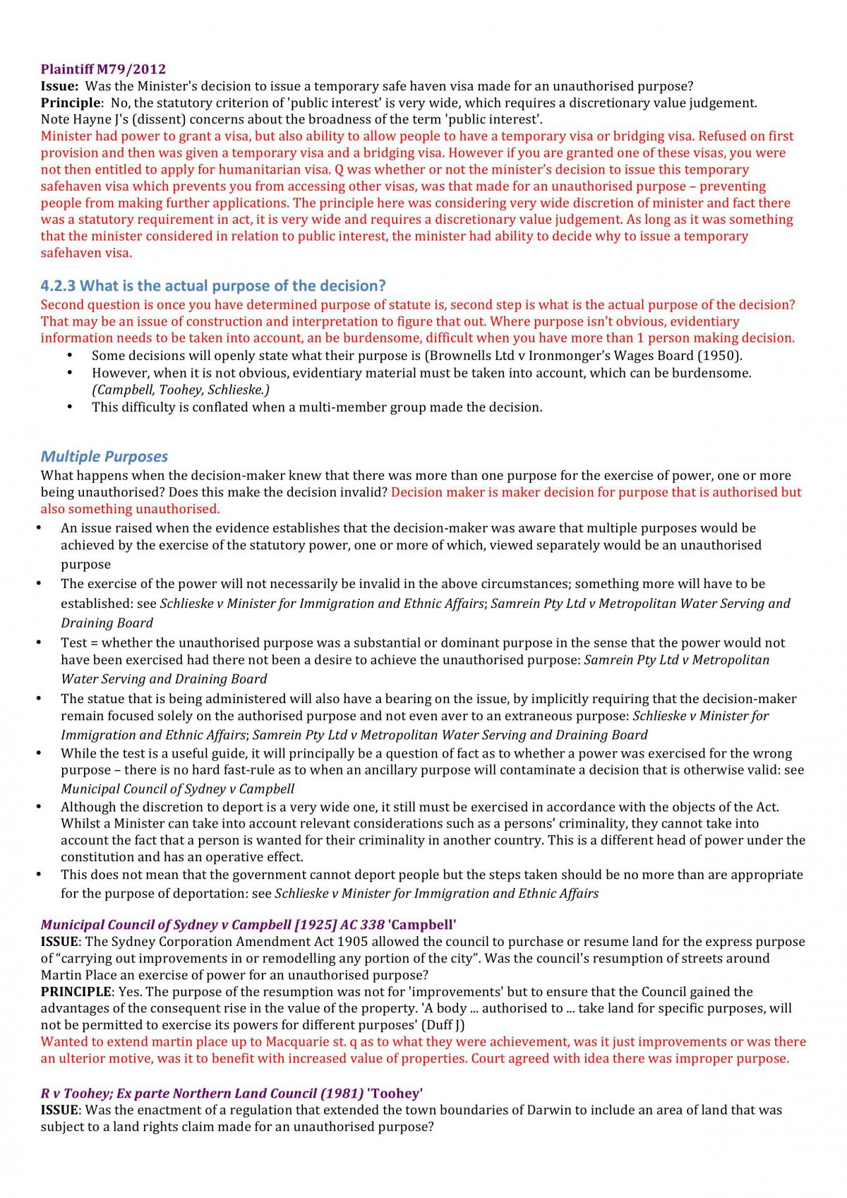 Administrative Law Exam Notes - Page 50