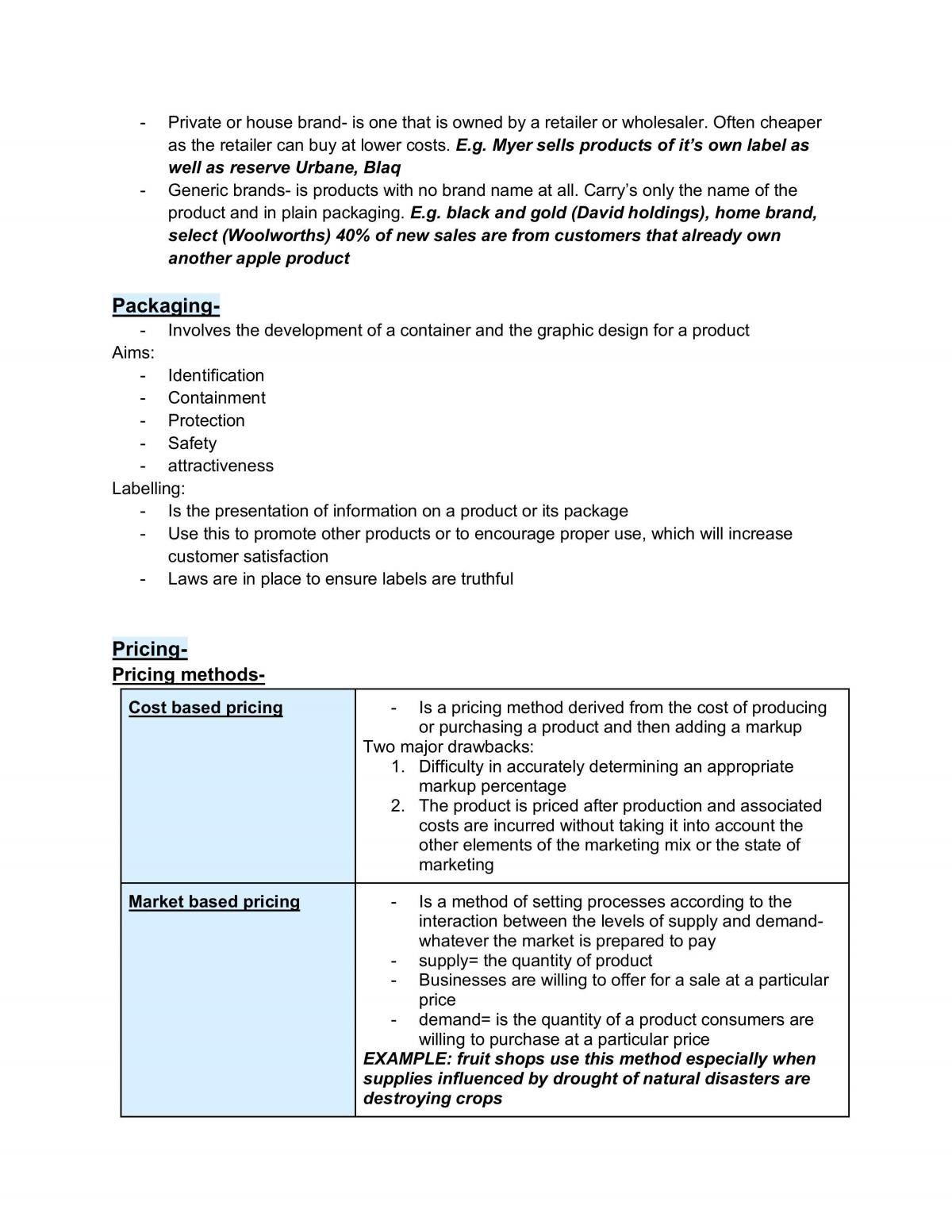 Complete Business Notes on Marketing  - Page 17