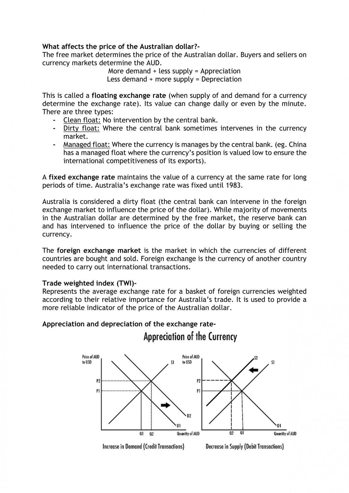 Economics ATAR Unit 4 Notes - Page 17