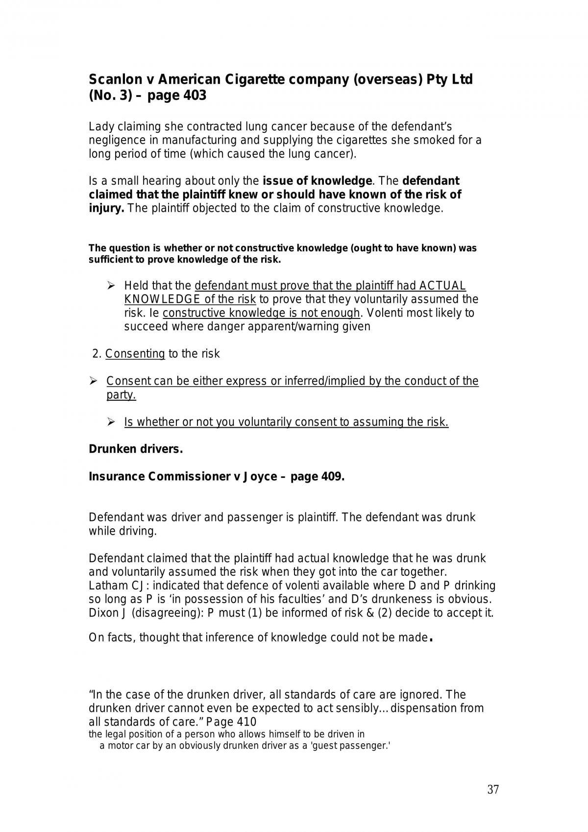 Torts Summary - Page 37