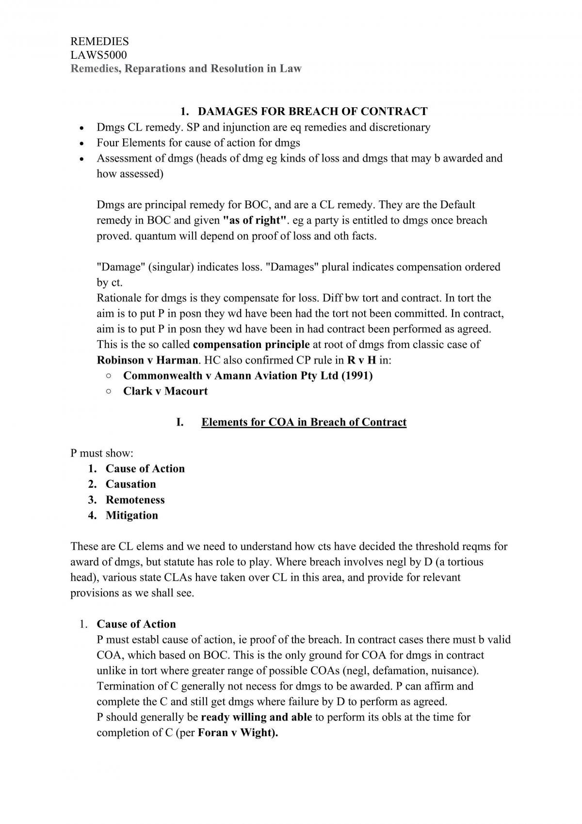 Remedies in Law Revisiable Notes  - Page 3