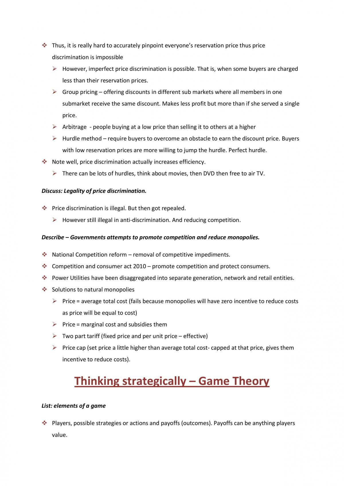 Microeconomics Notes  - Page 35