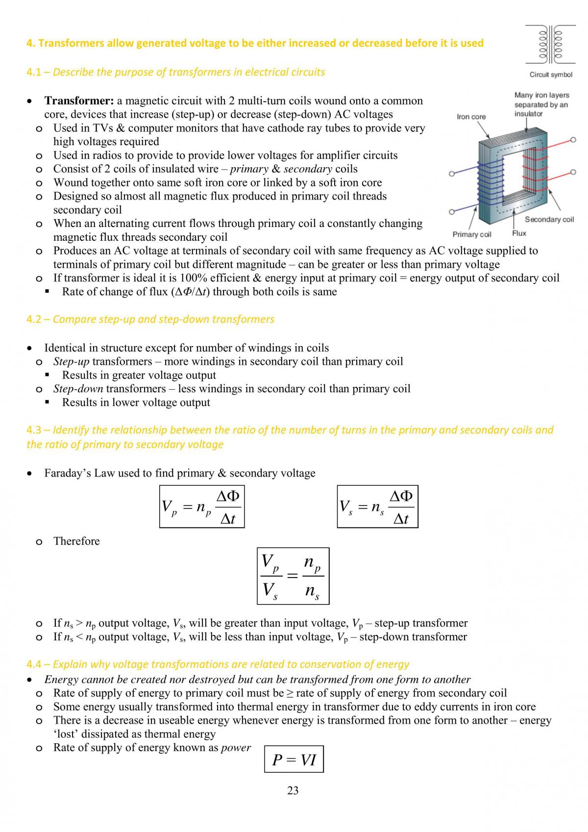Hsc Physic Syllabus Notes On Motors And Generators - Page 23