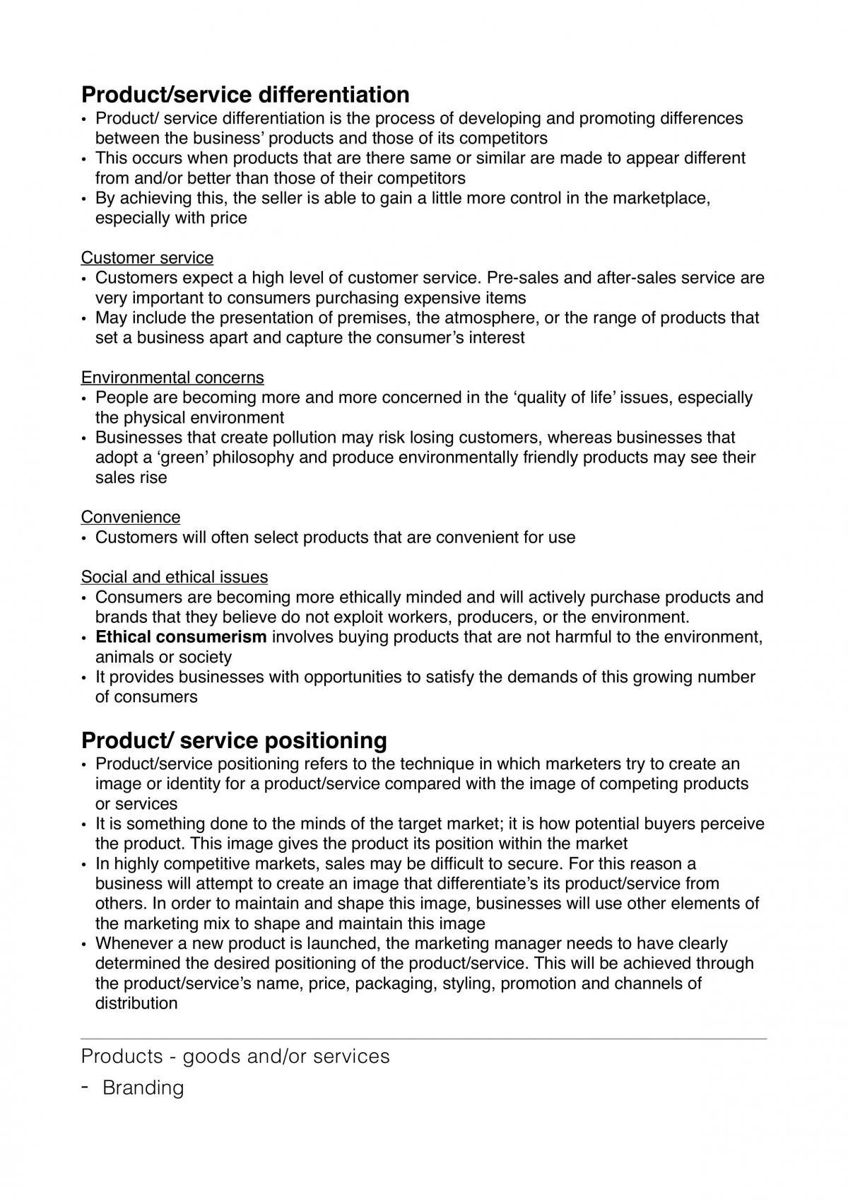 HSC Business Studies Module 2 Marketing notes - Page 21