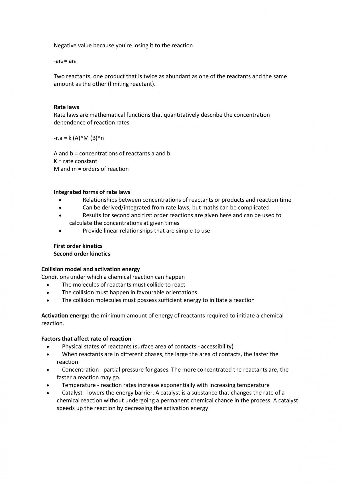 Chemistry 1A Complete notes - Page 39