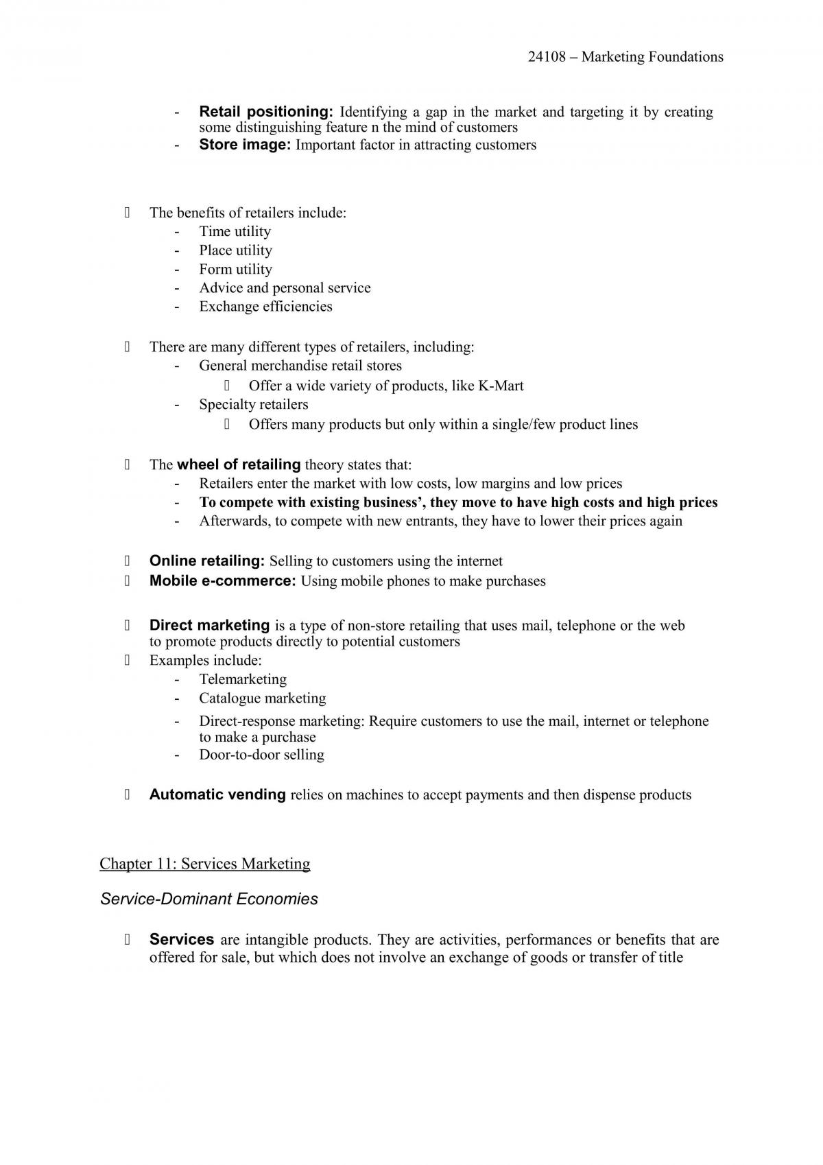 24108 Marketing Foundations - Full Semester Notes - Page 42