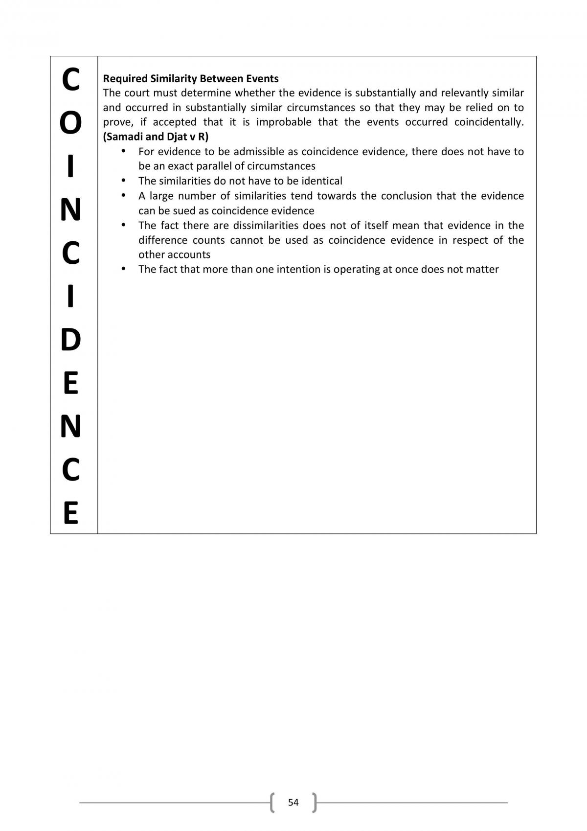 Evidence and Criminal Procedure Final Exam Notes - Page 54
